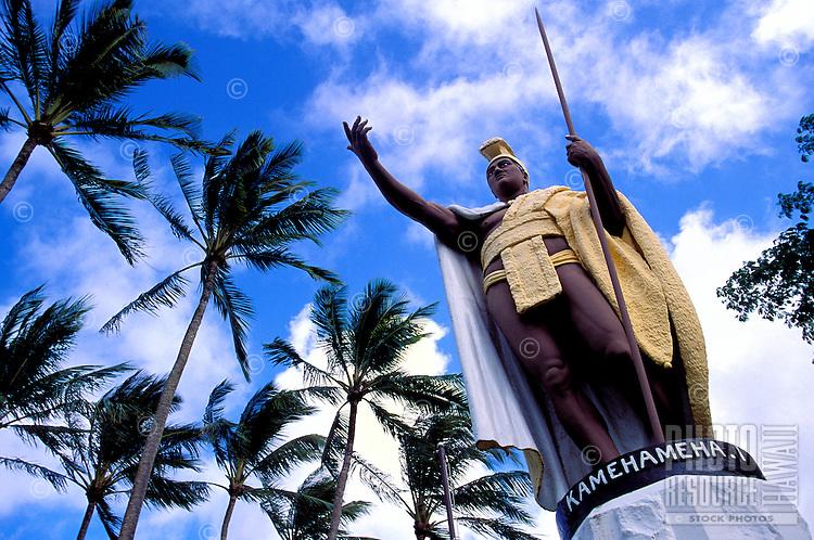Original Kamehameha statue, restored in 2001, Kapaau