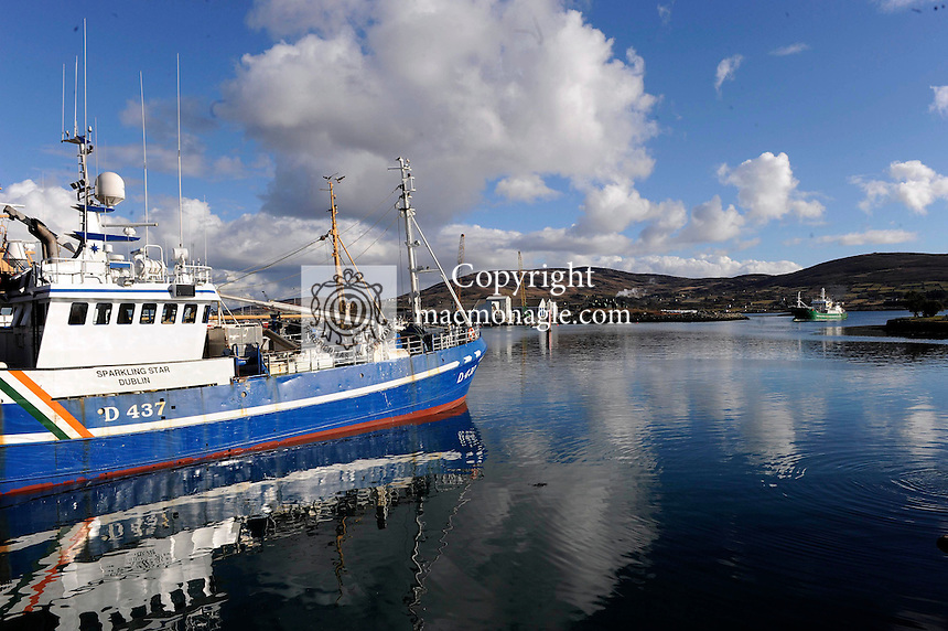 Fishing boats at Castletownbere in County Cork..Picture by Don MacMonagle