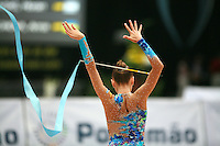 Evgenia Kanaeva of Russia recatches ribbon during ribbon event final at 2006 Portimao World Cup of Rhythmic Gymnastics on September 10, 2006.
