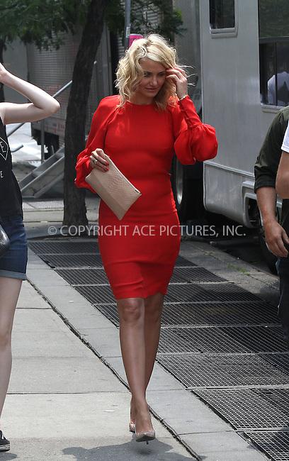WWW.ACEPIXS.COM<br /> <br /> June 25 2013, New York City<br /> <br /> Actress Cameron Diaz on the set of the new movie 'The Other Woman' on June 25 2013 in New York City<br /> <br /> By Line: Zelig Shaul/ACE Pictures<br /> <br /> <br /> ACE Pictures, Inc.<br /> tel: 646 769 0430<br /> Email: info@acepixs.com<br /> www.acepixs.com