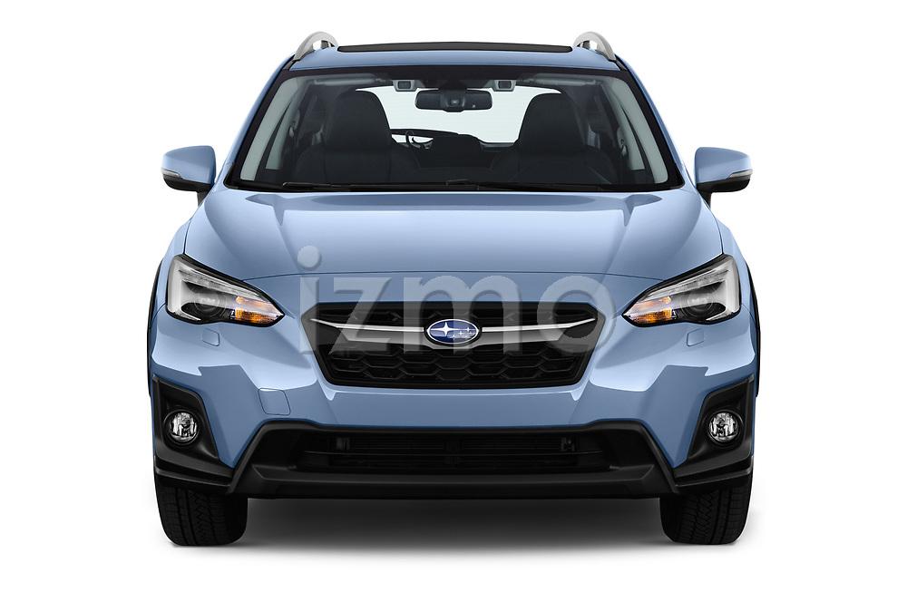 Car photography straight front view of a 2018 Subaru XV Premium 5 Door SUV