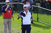 Matt Kuchar US Team makes his way to the 10th tee during Thursday's Practice Day of the 41st RyderCup held at Hazeltine National Golf Club, Chaska, Minnesota, USA. 29th September 2016.<br /> Picture: Eoin Clarke | Golffile<br /> <br /> <br /> All photos usage must carry mandatory copyright credit (&copy; Golffile | Eoin Clarke)