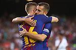 52e Trofeu Joan Gamper.<br /> FC Barcelona vs Chapecoense: 5-0.<br /> Gerard Deulofeu &amp; Jordi Alba.