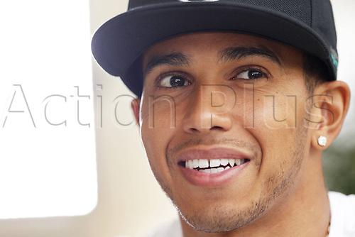 03.04.2014. Bahrain.  FIA Formula One World Championship 2014, Grand Prix of Bahrain, 44 Lewis Hamilton (GBR, Mercedes AMG Petronas F1 Team) Arrival and inspection day.