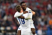 08.09.2014. Basel, Switzerland. Euro 2016 qualification football. Switzerland versus England.  goal celebrations as England go up 2-0 from scorer Danny Welbeck with Ricki Lambert (ENG)
