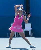 JULIA GOERGES..Tennis - Apia Sydney International -  Sydney 2013 -  Olympic Park - Sydney - NSW - Australia.Monday 7th January  2013. .© AMN Images, 30, Cleveland Street, London, W1T 4JD.Tel - +44 20 7907 6387.mfrey@advantagemedianet.com.www.amnimages.photoshelter.com.www.advantagemedianet.com.www.tennishead.net