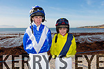 Pictured at Ballyheigue races on Sunday were Jockeys Joe Conlon and Mikey Sheehy.