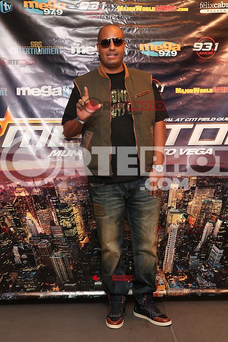 NEW YORK, NY - SEPTEMBER 30: DJ Lobo attends the Megaton Mundial de Polito Vega at Citi Field in New York City. September 30, 2012. &copy; Diego Corredor/MediaPunch Inc. .<br /> &copy;NortePhoto