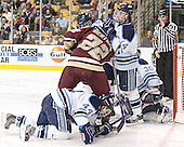 Bret Tyler, Dan Bertram, Steve MUllin, Billy Ryan, Ben Bishop - The Boston College Eagles defeated the University of Maine Black Bears 4-1 in the Hockey East Semi-Final at the TD Banknorth Garden on Friday, March 17, 2006.