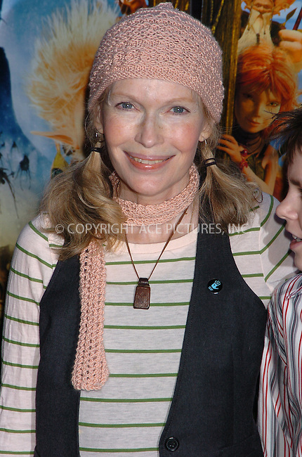 WWW.ACEPIXS.COM . . . . .  ....December 7, 2007, New York City....Mia Farrow attends the 'Arthur and the Invisibles' Premiere.....Please byline: AJ Sokalner - ACEPIXS.COM.... *** ***..Ace Pictures, Inc:  ..(212) 243-8787 or (646) 769 0430..e-mail: picturedesk@acepixs.com..web: http://www.acepixs.com
