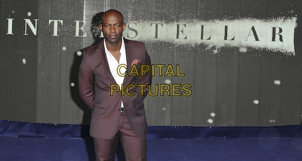 LONDON, ENGLAND - OCTOBER 29: David Gyasi attends the &quot;Interstellar&quot; UK film premiere, Odeon Leicester Square cinema, Leicester Square, on Wednesday October 29, 2014 in London, England, UK. <br /> CAP/CAN<br /> &copy;Can Nguyen/Capital Pictures