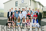 St. Brendan's NS Blennervile Graduating 6th Class of 2016 with Principal Terry O'Sullivan and  Fr Francis Nolan at the graduation service on Tuesday