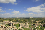 Israel, Shephelah, remains of Umm el Burj in Hurvar Burgin