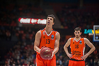 VALENCIA, SPAIN - December 2: Vladimir Lucic during EUROCUP match between Valencia Basket Club and Ratiopharm ULM at Fonteta Stadium on December 2, 2015