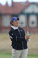 Tiffany Joh (USA) on the 2nd fairway during Round 3 of the Ricoh Women's British Open at Royal Lytham &amp; St. Annes on Saturday 4th August 2018.<br /> Picture:  Thos Caffrey / Golffile<br /> <br /> All photo usage must carry mandatory copyright credit (&copy; Golffile | Thos Caffrey)