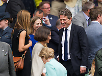 Hugh Grant at Centre Court for the Gentlemen's Singles Final<br /> <br /> Photographer Ashley Western/CameraSport<br /> <br /> Wimbledon Lawn Tennis Championships - Day 13 - Sunday 16th July 2017 -  All England Lawn Tennis and Croquet Club - Wimbledon - London - England<br /> <br /> World Copyright &copy; 2017 CameraSport. All rights reserved. 43 Linden Ave. Countesthorpe. Leicester. England. LE8 5PG - Tel: +44 (0) 116 277 4147 - admin@camerasport.com - www.camerasport.com