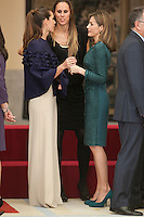 Queen Letizia of Spain during the 2013 Sports National Awards ceremony at El Pardo palace in Madrid, Spain. December 03, 2014. (ALTERPHOTOS/Victor Blanco)