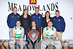 AWARDED: Awarded with the Basketball of Ireland Sheild on Saturday night were capts of St Brendan's Basket Club on Saturday night at Mercy Mounthawk Gym by Sinead Gordan(Basketball Ireland). Front l-r: Robert O'Sullivan, Sinead Gordan and Wayne Quillinan. Back l-r: Garreth Moore(assistant Coach),Siobhan O'Mahony(Meadowlands Hotel), Joe Quirke(Coach), majella O'SullivanC(Meadowlands Hotel) and Pa Carey (Club Chairman). ....   Copyright Kerry's Eye 2008