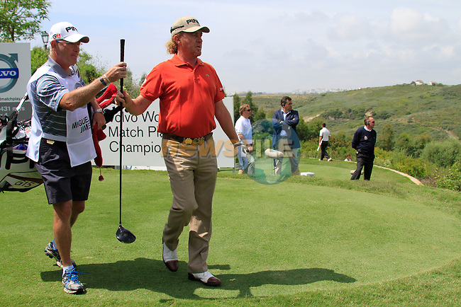 Miguel Angel Jimenez (ESP) after teeing off on the 1st tee during Day 1 of the Volvo World Match Play Championship in Finca Cortesin, Casares, Spain, 19th May 2011. (Photo Eoin Clarke/Golffile 2011)