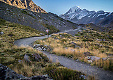 NEW ZEALAND, Aoraki Mount Cook National Park, Trail Running on the Hooker Valley Track, Ben M Thomas
