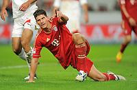 Fussball 1. Bundesliga:  Saison   2011/2012    16. Spieltag    11.12.2011 VfB Stuttgart 1-2 FC Bayern Muenchen   JUBEL FC Bayern Muenchen; zweifacher Torschuetze Mario Gomez
