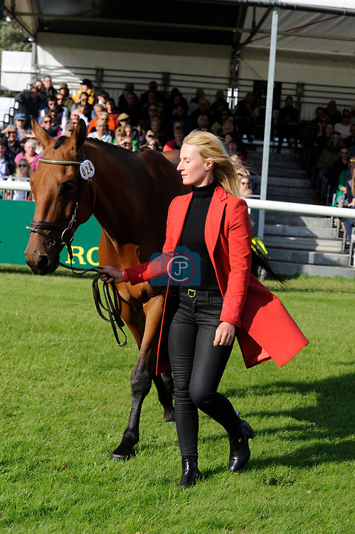 Stamford, Lincolnshire, United Kingdom, 4th September 2019, Alicia Hawker (GB) & Charles RR during the 1st Horse Inspection of the 2019 Land Rover Burghley Horse Trials, Credit: Jonathan Clarke/JPC Images