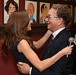 Laura Osnes and William Ivey Long attends the William Ivey Long Sardi's portrait unveiling and 70th Birthday Party at Sardi's Restaurant on August 30, 2017 in New York City.