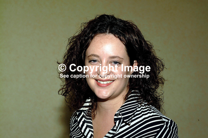 Ciara Farren, SDLP candidate for East Belfast in 2001 UK General Election. .Ref: 2001051861..Copyright Image from Victor Patterson, 54 Dorchester Park, Belfast, UK, BT9 6RJ..Tel: +44 28 9066 1296.Mob: +44 7802 353836.Voicemail +44 20 8816 7153.Skype: victorpattersonbelfast.Email: victorpatterson@mac.com.Email: victorpatterson@ireland.com (back-up)..IMPORTANT: If you wish to use this image or any other of my images please go to www.victorpatterson.com and click on the Terms & Conditions. Then contact me by email or phone with the reference number(s) of the image(s) concerned.