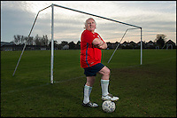BNPS.co.uk (01202 558833)<br /> Pic: TomWren/BNPS<br /> <br /> Ready and raring to go...<br /> <br /> An 81-year-old man believed to be 'Britain's oldest footballer' has today made an appeal for a club to come and get him after failing to find a team to play for. <br /> <br /> Sprightly Dickie Borthwick had played every season since the 1940s but has now been sidelined due to a worrying lack of interest in veteran football. <br /> <br /> The left midfielder says despite dwindling opportunities for older players he isn't hanging up his boots just yet. <br /> <br /> Dickie, who thinks he has scored aout 400 goals and has never been booked in a 1,600 match career, would like to play once every two weeks.