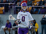 UAlbany Men's Lacrosse defeats Stony Brook on March 31 at Casey Stadium.  Davis Diamond (#0).