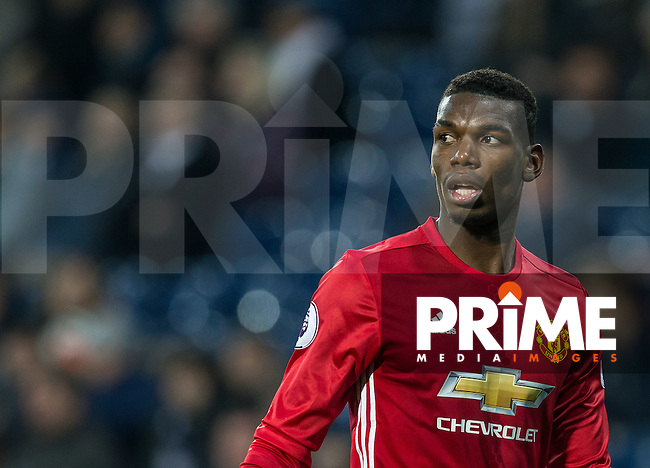 Paul Pogba of Manchester United during the EPL - Premier League match between West Bromwich Albion and Manchester United at The Hawthorns, West Bromwich, England on 17 December 2016. Photo by Andy Rowland / PRiME Media Images.