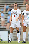 22 August 2014: Ohio State's Kayla Varner. The Duke University Blue Devils played The Ohio State University Buckeyes at Fetzer Field in Chapel Hill, NC in a 2014 NCAA Division I Women's Soccer match. Ohio State won the game 1-0.