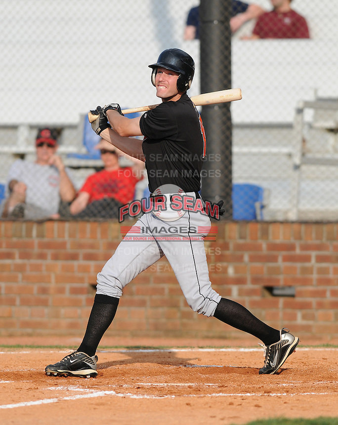 August 1, 2009: Outfielder Kipp Schutz (15) of the Bluefield Orioles, rookie Appalachian League affiliate of the Baltimore Orioles in a game at Howard Johnson Field in Johnson City, Tenn. Photo by: Tom Priddy/Four Seam Images
