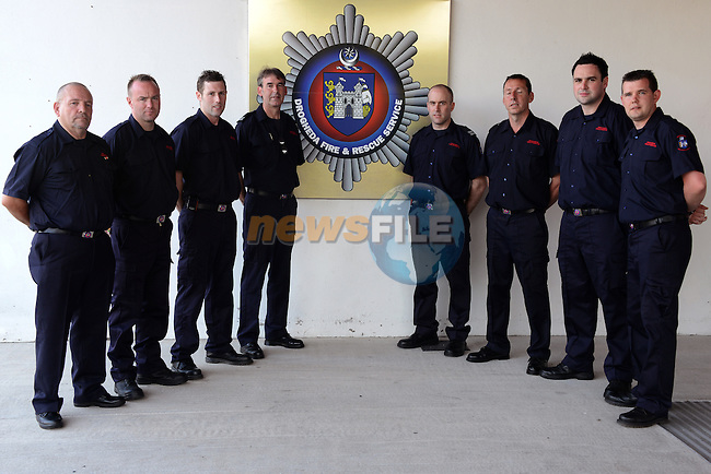 Retained Sub office Joe O'Connor retirement party in Drogheda Fire Station.<br />