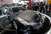 Geely GT at the Auto China 2008 in Beijing. The car show has attracted all the world's major auto markers. Vehicle production and sales both surged more than 20 percent to a record 8.8 million units in China last year. Analysts forecast that both China's auto output and sales will continue to expand at double-digit rates in 2008 to 10 million as the economy grows rapidly and the government tries to encourage people to spend money..24 Apr 2008