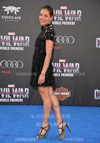 LOS ANGELES, CA. April 12, 2016: Actress Margarita Levieva at the world premiere of &quot;Captain America: Civil War&quot; at the Dolby Theatre, Hollywood.<br /> Picture: Paul Smith / Featureflash