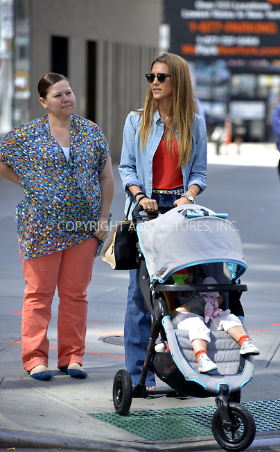WWW.ACEPIXS.COM<br /> <br /> <br /> September 9, 2013, New York City, NY.<br /> <br /> Jessica Alba out for a stroll with her daughter Haven on September 9, 2013 in New York City, NY.<br /> <br /> <br /> <br /> <br /> By Line: Curtis Means/ACE Pictures<br /> <br /> ACE Pictures, Inc<br /> Tel: 646 769 0430<br /> Email: info@acepixs.com