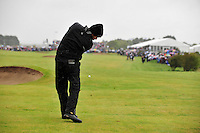 Robert Rock takes his 2nd shot from the fairway on the 18th hole during the Final Round of the 3 Irish Open on 17th May 2009 (Photo by Eoin Clarke/GOLFFILE)