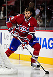 24 September 2009: Montreal Canadiens' defenseman Hal Gill warms up prior to facing the Boston Bruins at the Bell Centre in Montreal, Quebec, Canada. The Bruins defeated the Canadiens 2-1 in an overtime shootout. Mandatory Photo Credit: Ed Wolfstein Photo