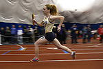 Grace Campbel from Pope John High School runs the anchor leg of the girls 4 x 800 meter race during the NJSIAA Winter Track &amp; Field Relay Championships held at Bennett Center in Toms River on Wednesday January 18, 2018.<br /> <br /> (Mark R. Sullivan | For NJ Advance Media)