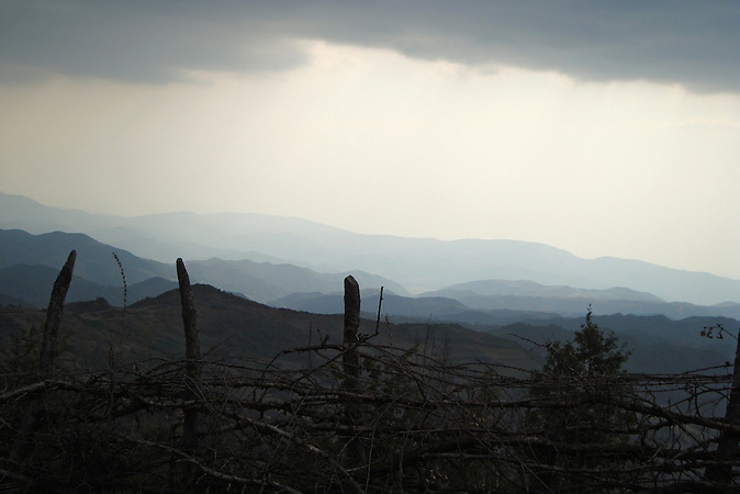 Berglandschaft Shpati. / A mountain landscape in Shpati.
