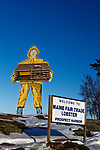 Large signs in Prospect Harbor, Gouldsboro, Maine, USA