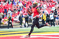 College Park, MD - OCT 1, 2016: Maryland Terrapins running back Ty Johnson (6) was un-stoppable today rushing for 204 yards and 2 touchdowns during game between Maryland and Purdue at Capital One Field at Maryland Stadium in College Park, MD. The Terps got the win 50-7 over visiting Purdue. (Photo by Phil Peters/Media Images International)
