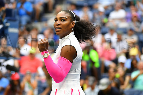 04.09.2016. Flushing Meadows, New York, USA. US Open 2016 Grand Slam tennis tournament. Serena Williams (USA) wins in 2 sets against Shvedova