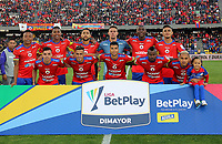 PASTO-COLOMBIA, 07-02-2020: Jugadores de Deportivo Pasto, posan para una foto, antes de durante partido de la fecha 4 entre Deportivo Pasto y Atlético Bucaramanga por la Liga BetPlay DIMAYOR I 2020 jugado en el estadio Departamental Libertad de la ciudad de Pasto. / Players of Deportivo Pasto, pose for a photo, prior a match of the 4th date between Deportivo Pasto and Atletico Bucaramanga for the BetPlay DIMAYOR I Leguaje 2020 played at the Departamental Libertad Stadium in Pasto city. / Photo: VizzorImage / Leonardo Castro / Cont.