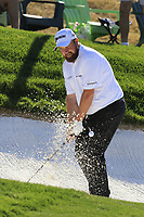 Shane Lowry (IRL) chips from a bunker at the 5th green during Saturday's Round 3 of the Waste Management Phoenix Open 2018 held on the TPC Scottsdale Stadium Course, Scottsdale, Arizona, USA. 3rd February 2018.<br /> Picture: Eoin Clarke | Golffile<br /> <br /> <br /> All photos usage must carry mandatory copyright credit (&copy; Golffile | Eoin Clarke)