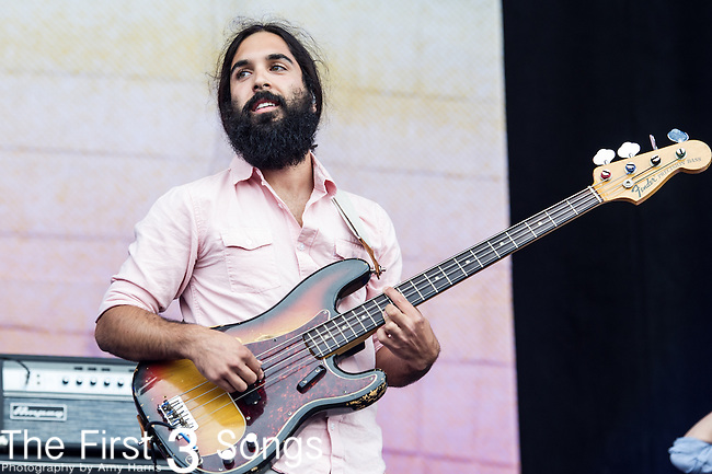 Payam Doostzadeh of Young the Giant performs at the Outside Lands Music & Art Festival at Golden Gate Park in San Francisco, California.