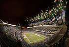 Oct. 6, 2012; Fireworks explode over Soldier Field after Notre Dame beat the Miami Hurricanes 41-3 in the Shamrock Series game.<br />