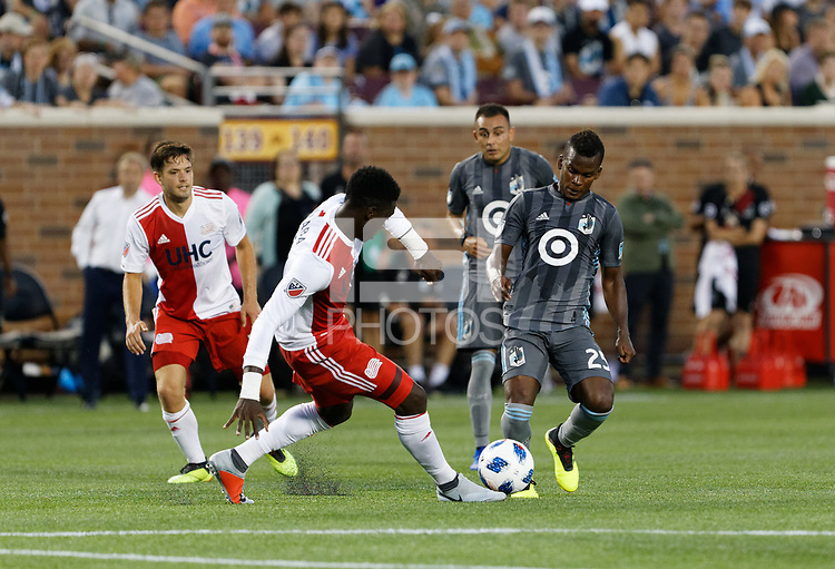 Minneapolis, MN - Wednesday, July 18, 2018: Minnesota United FC played New England Revolution at TCF Bank Stadium Final score Minnesota United 2, New England 1