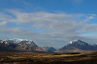 Sron na Creise and Buachaille Etive Mor from Rannoch Moor, Highlands, Scotland<br /> <br /> Copyright www.scottishhorizons.co.uk/Keith Fergus 2011 All Rights Reserved